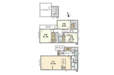 東恋ケ窪4丁目戸建 1-2階 3LDK 賃貸一戸建て
