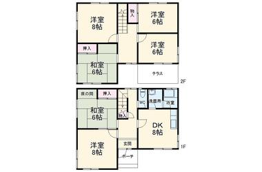 さいたま市見沼区南中丸貸家 1-2階 5DK 賃貸一戸建て