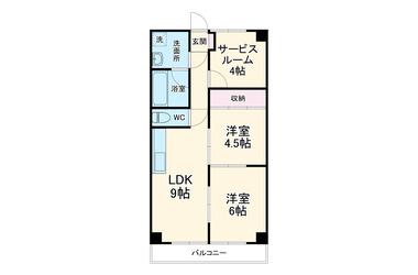 コーエイマンション久里浜 3階 2SLDK 賃貸マンション