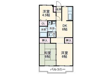 エーデルハイム 1階 3DK 賃貸マンション
