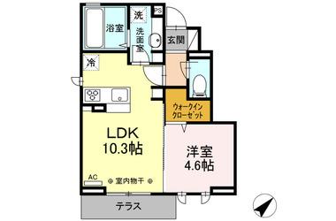 (仮)D-room砂川町 1階 1LDK 賃貸アパート