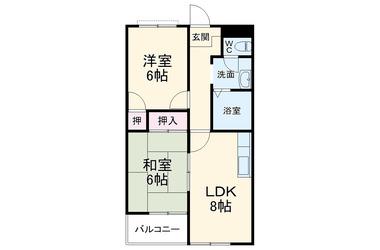 祇園 徒歩19分 2階 2DK 賃貸マンション