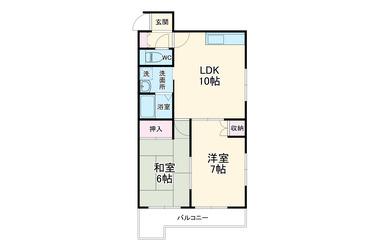 市川ビル 2階 2LDK 賃貸マンション