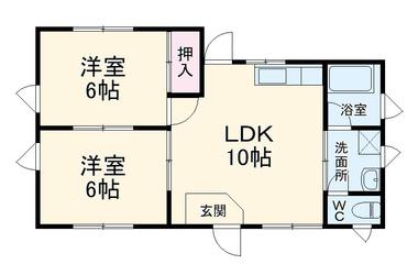 岬町店舗 2階 2LDK 賃貸アパート