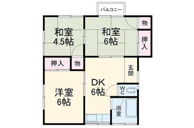 苅谷グリーンハイツ 2階 3DK 賃貸アパート