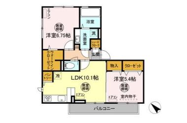 シュエットⅡ 2階 2LDK 賃貸アパート