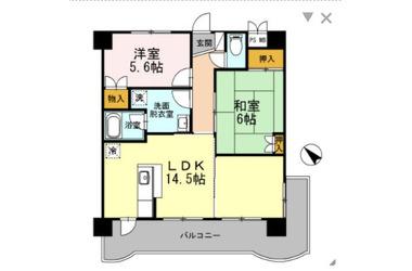 和田町 徒歩9分 3階 2LDK 賃貸マンション