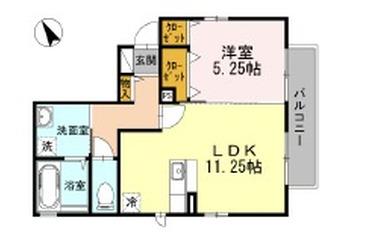 エクセレント和田町III 1階 1LDK 賃貸アパート