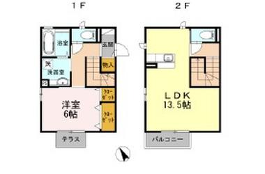 エクセレント和田町III 1-2階 1LDK 賃貸アパート