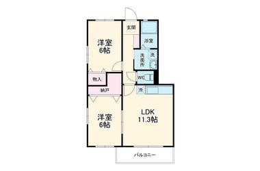 ちはら台 徒歩13分 1階 2LDK 賃貸アパート