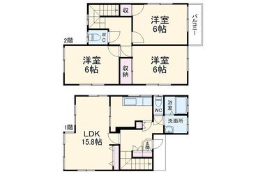 狛江 徒歩8分 1-2階 2LDK 賃貸一戸建て
