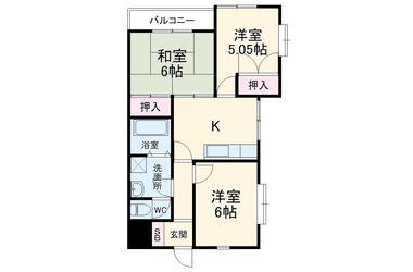 ベルヴィ西都賀 3階 3DK 賃貸マンション
