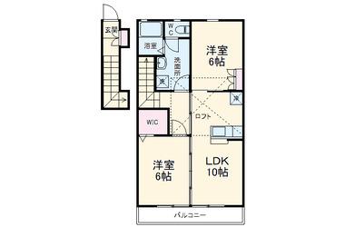 ディアコート成城 2階 2LDK 賃貸アパート