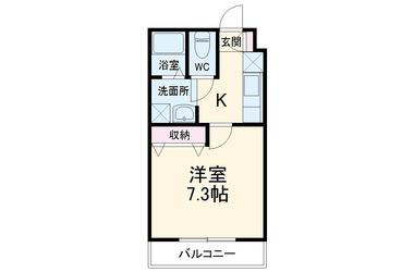 屏風浦 徒歩11分 2階 1K 賃貸マンション
