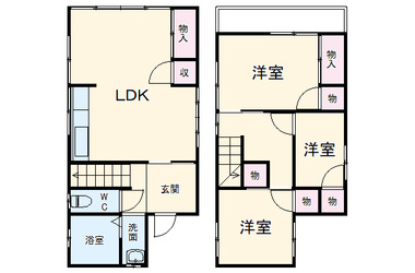 京急大津 徒歩19分 1-2階 3LDK 賃貸一戸建て
