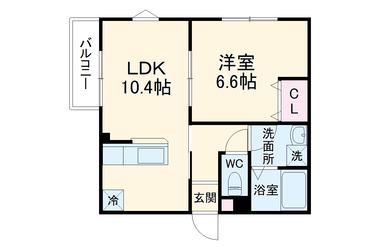 ルーツ18番館 1階 1LDK 賃貸アパート