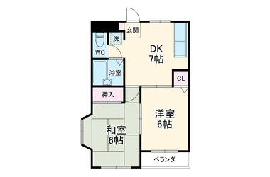 つかさマンション 3階 2DK 賃貸マンション