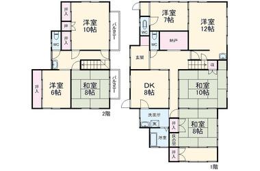 大甕 徒歩19分 1-2階 7SDK 賃貸一戸建て