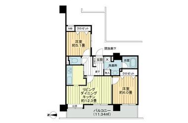ライフプラザ横浜・瀬谷 5階 2LDK 賃貸マンション