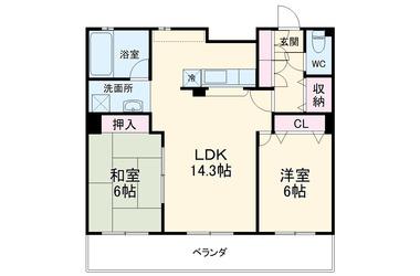 新横浜 徒歩20分 5階 2LDK 賃貸マンション
