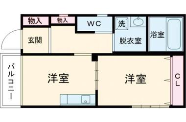 江戸川 徒歩18分 2階 1DK 賃貸マンション