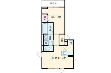 (仮)D-room堀之内Ⅱ 1階 1LDK 賃貸アパート