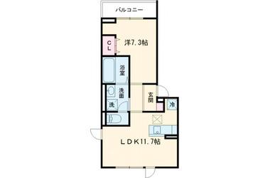 (仮)D-room堀之内Ⅱ 2階 1LDK 賃貸アパート