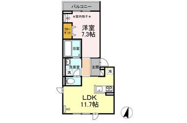 (仮)D-room堀之内Ⅱ 3階 1LDK 賃貸アパート