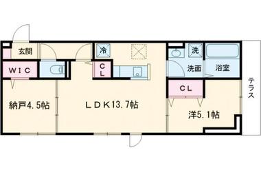 (仮)D-room堀之内Ⅱ 1階 1SLDK 賃貸アパート