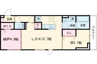 (仮)D-room堀之内Ⅱ 2階 1SLDK 賃貸アパート