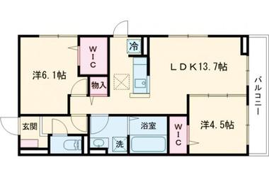 (仮)D-room堀之内Ⅱ 2階 2LDK 賃貸アパート