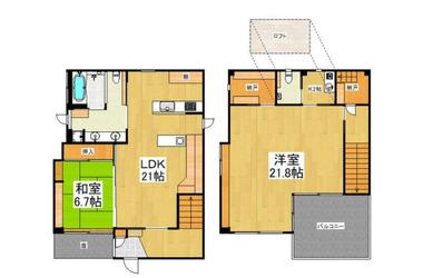小川 徒歩17分 1-2階 2LDK 賃貸一戸建て
