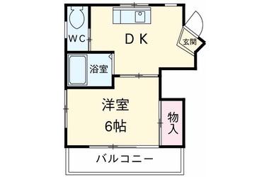四ッ木 徒歩19分3階1DK 賃貸マンション