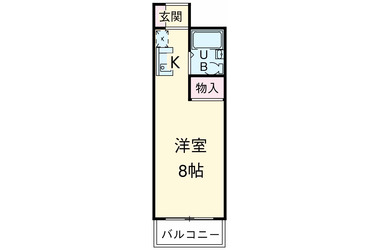 綱島 徒歩16分3階1K 賃貸アパート