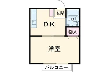 綱島 徒歩12分2階1R 賃貸アパート