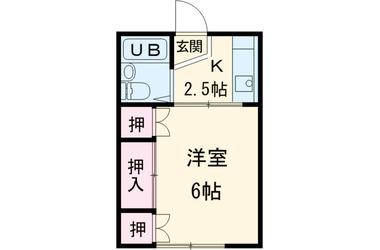 コダマハイツ1階1K 賃貸アパート