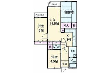 大宮 徒歩20分3階3LDK 賃貸マンション