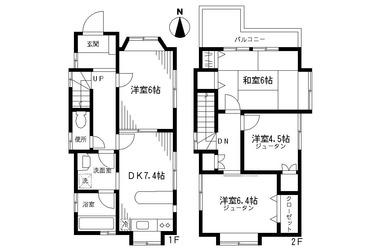 大倉山戸建1階4DK 賃貸一戸建て