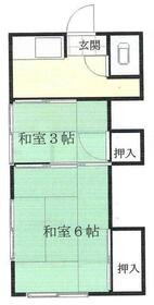 第2みのり荘 1階 2R 賃貸アパート