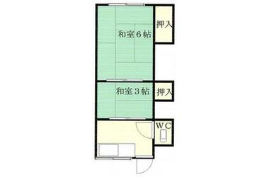第1さかき荘 2階 2R 賃貸アパート