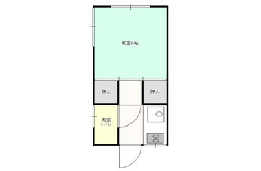竹内荘2階1R 賃貸アパート