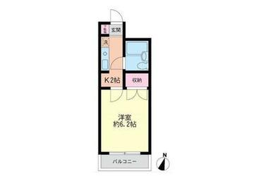エルハイム王子2階1K 賃貸マンション