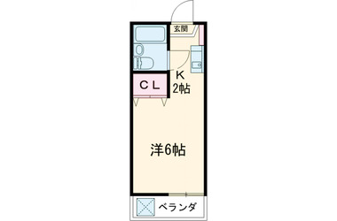 フローラタカノ2階1R 賃貸アパート