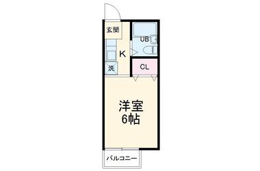 藤沢 徒歩15分1階1R 賃貸アパート