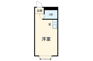 富士見町 徒歩4分 2階 1R 賃貸アパート