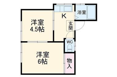野中荘2階2R 賃貸アパート