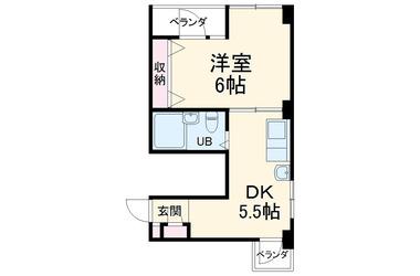 パークサイドヒル大宮 2階 1DK 賃貸マンション