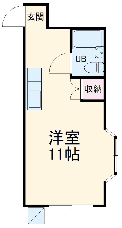 雀宮 徒歩27分 1階 1R 賃貸アパート