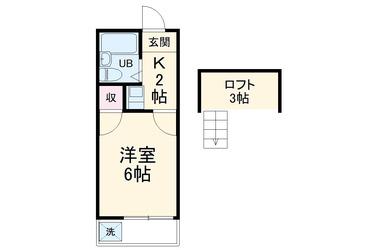 ハイツプレーヌ柏 2階 1K 賃貸アパート