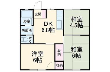 鴨宮 徒歩6分1階3DK 賃貸アパート